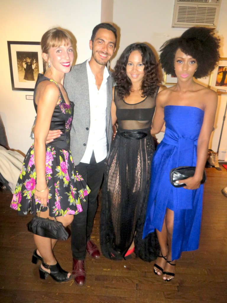 """(Left to Right) Actors: Kiran Rhe, Luis Morales, Erin Sanderson, Ebony Obsidian They are part of the main cast for """"Where Hearts Lie"""""""