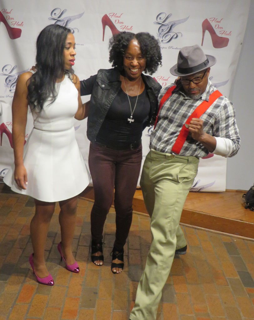 That's me with Jennifer Nesbitt and Comedian Tony Tone! Everyone was clowning around and I couldn't help but LMAO! Lolol